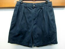 EUC Men's Polo by Ralph Lauren Tyler Pleated Front Shorts 100% Cotton Sz 34 Blue