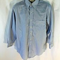 Brooks Brothers Shirt Button Down Dress Original Polo Non Iron Shirt 16 32 Mens