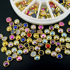 Mixed Color Rhinestones Mixed Acrylic 3D Nail Art Tip Decoration Glitter Wheel