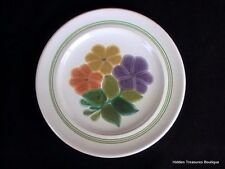 Franciscan Earthenware Floral Salad Plate Green Band Beautiful (B)