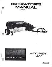 New Holland 277 Square Baler Operator Manual 42027712