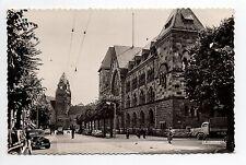 METZ moselle CPA 57 l'hotel des postes et la gare sur carte des années 50