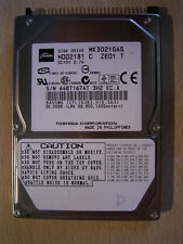30 GB TOSHIBA INTERNAL HARD DRIVE 2.5 HDD2181 FAULTY PATA IDE
