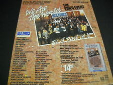 We Are The World 1985 Promo Poster Ad Michael Jackson Springsteen Midler others