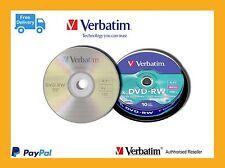 ($0 p&h) Verbatim 43552 Rewritable Disc DVD-RW 4x Speed, 10 Disk Spindle Pack