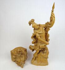 Holzfigur Hl. Florian Barock, Schutzpatron geschnitzt alpenländisch Südtirol