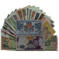 20 Pieces Mix Different world Notes From 12 Foreign Countries, UNC
