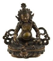 Estatua Tibetano De Jambhala Dzambhala Vaisravana Cobre 13.5 CM Tibet 25487
