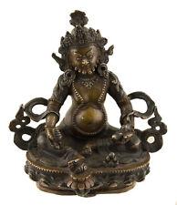 Statue tibetaine de Jambhala Dzambhala Vaisravana cuivre 13.5 cm Tibet  25487