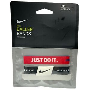 NIKE Reversible Baller Bands One Pair Size M/L New