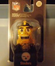 Nfl Pittsburgh Steelers Christmas Ornament Nfl Mascot Collectible *New*