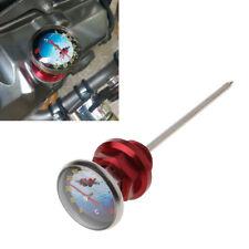 Red Motorcycle Dirt Pit Bike Parts Oil Cap Tank Temperature Gauge For 110/125cc