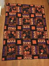Hand Made Halloween Quilt - Throw Size - 100% Cotton - New