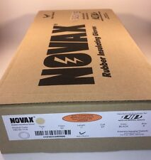 "New Novax Electrical Insulating Gloves 150-00-11/9 11"" Length Sz 9 Black Lineman"
