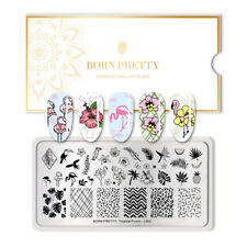 BORN PRETTY Nail Art Stamping Plate Flamingo Pattern Manicure Design Decoration
