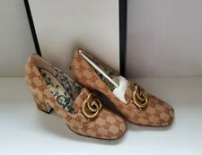Gucci Marmont GG canvas heels pumps shoes IT 38.5