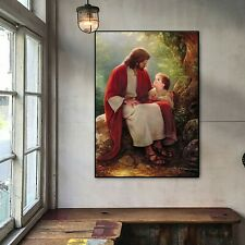 Jesus With Child Oil Paint Silk Canvas Poster Church Art Decor No Frame A911