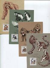 DDR 3019-3022 amtliche Maximumkarten 5-8/86 125 Jahre Dresdner Zoo top (B07877)
