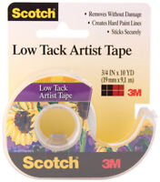 Scotch Low Tack Professional Quality Artist Tape by 3M 3/4in x 10 yd 19mm x 9.1m