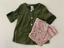 Carters Pw - Core 2 pc set Button Tunic & Floral leggings - 9 Mo. Nwt