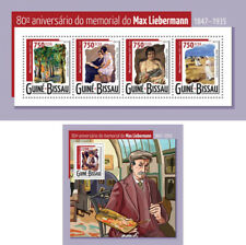 Max Liebermann Impressionism Art Paintings Guinea-Bissau MNH stamp set