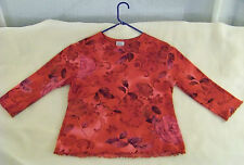 Giorgio Fiorlini's Collection Chameleon Red purple Knit Top Italy Med* $29.95