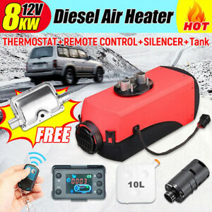 12V 8KW 10L Diesel Air Heater w/LCD Monitor Switch For SUV Car Boat Trailer TOP