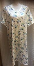 NWT Serenada Blue Floral Brushed Poly Cotton Night Gown Size OX