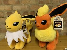 More details for build a bear flareon & jolteon 2020 used with tags & sounds pokemon