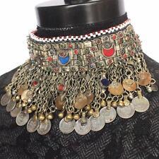 Vintage Afghan Ethnic Kuchi Tribal Choker Boho Bib $128