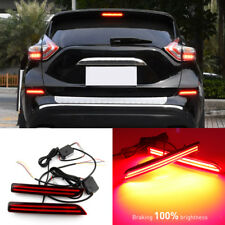 2x LED Rear Bumper Reflector Brake Turn Signal Light For Nissan Murano 2015-2017