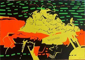 Luigi Maria Rigon serigrafia Astratto 50x70 firmata numerata del 1974