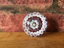 Rare Miniature 1852 Antique Victorian Baccarat Three Ring Concentric Paperweight