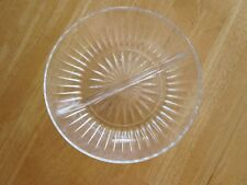 Lead Crystal Clear Glass Divided Serving Dish Round Bowl Princess House Germany