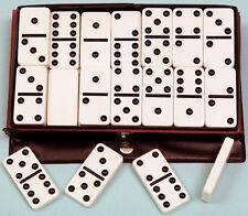 Plastic Double Six Dominoes - Black Spots - Ref: 00116
