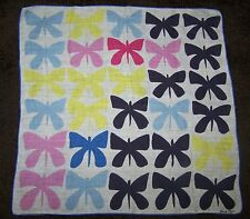 Vintage Carl Tait Signed Butterfly Hankie Handkerchief