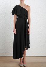 Zimmermann Sueded One Shoulder Long Dress | Black Formal Bridesmaid | $700 RRP