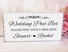 Wedding Sign Post Box Cards Sign Personalised Wedding Vintage Free Standing