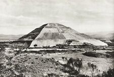 1934 Vintage MEXICO Teotihuacan Mesoamerican Pyramid Landscape Photo Art 11x14