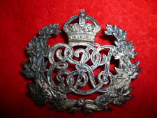 Canadian Militia - Pre WWI Edwardian Silver Pouch Badge