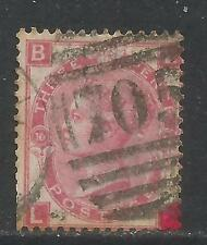 Great Britain 1867-80 Queen Victoria 3p rose plate 10 (49) used