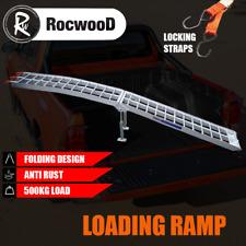 Loading Ramp Folding Aluminium x1 Motorcycle Bike Motorbike MX 340 KG & Strap