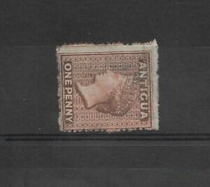 ANTIGUA. 1863-67. 1d. VERMILION. SIDEWAYS WATERMARK. UNUSED NO GUM. SG 7b. (382)