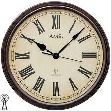 AMS f5977Orologio da parete radiocontrollato, Legno, Multicolore, 46x (h2e)