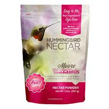 Moore Wild Birds Hummingbird Nectar Easy Mix All Natural Plant Based Food Powder