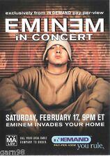 EMINEM In Concert Handbill Flyer 2001