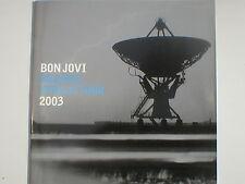 BON JOVI bounce world tour 2003 silver edition TOUR PROGRAMME - 28 pages