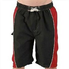 Boys black and red swimming shorts board shorts in age 5-6 and 9-10 years