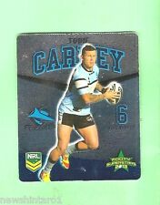 TIP TOP NRL 2013 RUGBY LEAGUE FOOTY SUPERSTARS CARD #22  TODD CARNEY, SHARKS