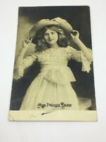 Actress Miss Phyllis Dare The Rotophot Postcard Real Photo Postcard Posted 1904